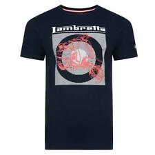 Lambretta Scooter impresión camiseta Azul Marino para Hombre Mod Retro Indie Free UK Post