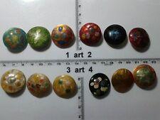1 lotto bottoni gioiello strass smalti perle maculati buttons boutons vintage g8
