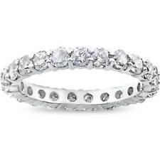 2ct Diamond Eternity Wedding Ring 14K White Gold