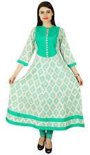 Phagun Rayon Kurta Ethnic Designer Casual Kurti Damask Indian Women Tunic Dress