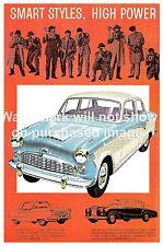 Smart Styles: Vintage Motor car advertising poster, Wall art.