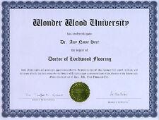 Doctor Hardwood Flooring Diploma Oak Maple Birch Walnut