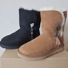 UGG Lilou Sheepskin Boots Charm and Swarovski Embellished Tassel Boots