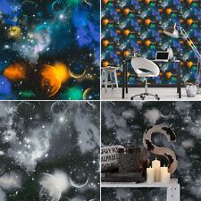 L'Espace Cosmique Planètes Étoiles papier peint Ciel Nocturne univers Glow in Dark comme création
