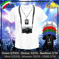 "T-shirt ""PHOTOGRAPHER"" Camera Paparazzi Fotografo Journalist Press, Collez 2019!"