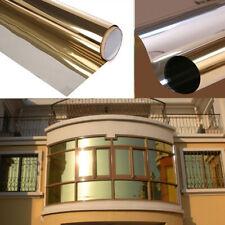yazi Gold Mirror One Way Window Film 85% Solar Reflective Self Adhesive Privacy