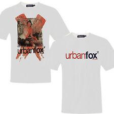 Camiseta hombre ajustado Urban Fox Camiseta de manga corta NUEVO BLANCO