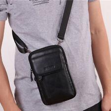 Men's Belt Waist Fanny Pack Real Genuine Leather Mini Shoulder Cell Phone Bag