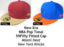NEW ERA POP TONAL NBA 59FIFTY FITTED CAP - MIAMI HEAT/NEW YORK KNICKS