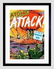 COMICS ATTACCO Atomico BOMBA Atomica Fungo Atomico USA Stampa artistica incorniciato b12x3283