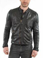NEW Men's Stylish Motorcycle slim fit Genuine Lambskin Leather Biker Jacket M403