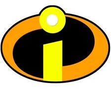 The Incredibles Logo Disney Movie Adult Kids White Tee T-Shirt S/M/L/XL