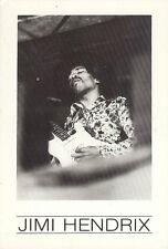 Carte Postale Postcard Chanteur JIMI HENDRIX avec guitare noir et blanc