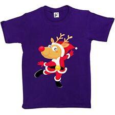 Red Nose Rudolph Reindeer Dancing For Christmas Kids Boys / Girls T-Shirt