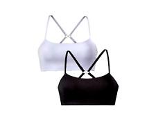 2x BH Sport-BH Bügellos BügellosBH schwarz und weiß größe 32/34 Damen NEU top  .