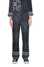 Desigual Black & White Patterned Enya Trousers 36-46 UK 8-18  RRP ?109