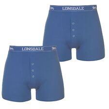 Da Uomo Blu 2 Pack Lonsdale Boxer Biancheria Intima S M L XL XXL 3XL 4XL