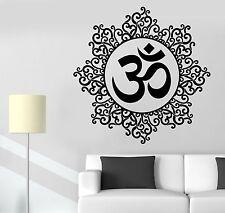 Wall Sticker Om Meditation Indian Spiritual Zen Lotus Vinyl Decal (z2932)
