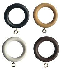 ANELLI per tende asta in plastica effetto legno con occhiello Drapery Ring - 2 Taglie