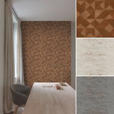 Vlies Tapete Beton Optik Grau Kupfer Bronze Grafisches Muster kombi modern look