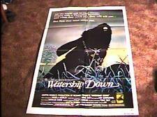 WATERSHIP DOWN MOVIE POSTER '78 ANIMATION RABBITS