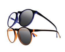Unisex Oversized Round Transition Photochromic Sunglasses UV400 Reading Glasses