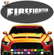 Firefighter Cool Fun Windshield Window Vinyl Car Decals Truck Decals