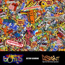 StickerBomb Colour Sticker Graphic  Wrap Multipurpose Retro Game Theme V.Large