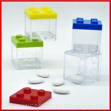 Scatoline in plexiglass mattoncini lego costruzione colorate