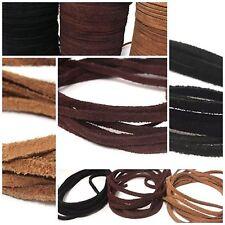 Lederbänder, Lederband  Echt Büffelleder - Wildleder eckig - zum Basteln