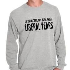 Lubricate Gun Liberal Tears USA Shirt | America Guns Patriot Long Sleeve T Shirt
