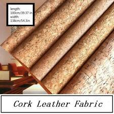 Cork Leather Fabric Textile Vegan Leather Bag Furniture Decor Craft DIY By Metre