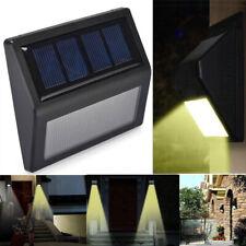 1 x IMPERMEABILE 6 LED ENERGIA SOLARE SENSORE DI MOVIMENTO PIR luce a parete