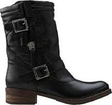 Clarks Ladies Mid-Calf Pull-on Boots MEZZE ROSE Black Leather UK 5 / 38