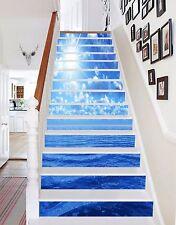 3D Sun Blue Sea 535 Risers Decoration Photo Mural Vinyl Decal Wallpaper CA