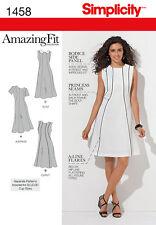 Simplicity Amazing Fit Misses & Plus Size Sewing Pattern 1458 Dress