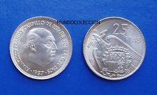 MONEDA DE 25 pesetas 1957 *66 Franco S/C