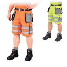 kurz Warnschutzhose mit Reflektionsstreifen orange gelb Arbeitshose Warnschutz