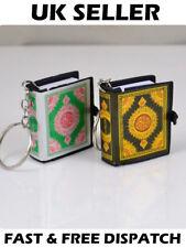 Mini Arabic Koran Quran Islam Muslim Allah Paper Key Ring Chain القرآن الكريم