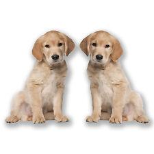 2 x 20cm Labrador Vinyl Stickers Decals Laptop Car Dog Girls Kids Gift Fun #6610