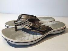 Clarks Womens Brinkley DerryH Flip Flop Sandals Pewter (857-864)