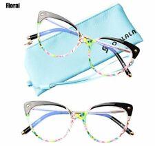 Cat Eye Blue Light Blocking Anti Blue Ray Glasses Semi Rimless Anti Fatigue