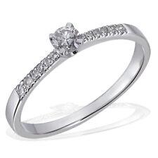 Goldmaid Ring 585 Weißgold 13 Brillanten 0,25 ct. Glamour Verlobungsring