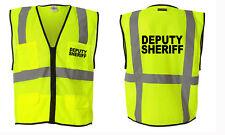 Deputy Sheriff- Law Enforcements  Reflective Vest S-4XL sizes