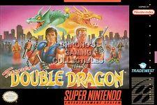 RGC Huge Poster - Super Double Dragon Super Nintendo SNES BOX ART - DDN004