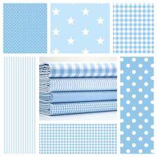 étoiles pâle bleu & Blanc Tissu coton par le mètre extra large crèche garçons