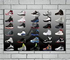 143023 Air Jordan Sneaker Shoes Wall Print Poster Affiche