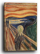 Lein-Wand-Bild Kunstdruck: Edvard Munch - Der Schrei (1910)