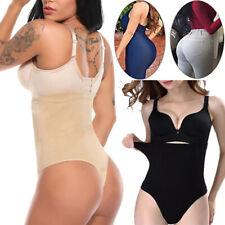 HIGH WAIST Body Shaper Cincher Thong Panty Women Boned Tummy Control G-String UK
