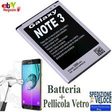 BATTERIA SAMSUNG GALAXY NOTE 3 N9005 3200mAh NUOVA piu Pellicola Vetro